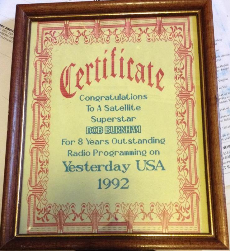 bob's yesterday usa award_____
